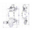Насосно-смесительный узел для теплого пола AQUAHIT, межосевое 130-180