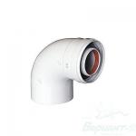 коаксиальный дымоход купить отвод коаксиальный 90° 60/100 мм