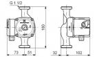 Циркуляционный насос для отопления Grundfos UPS 25-60