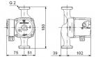 Циркуляционный насос для отопления Grundfos UPS 32-40